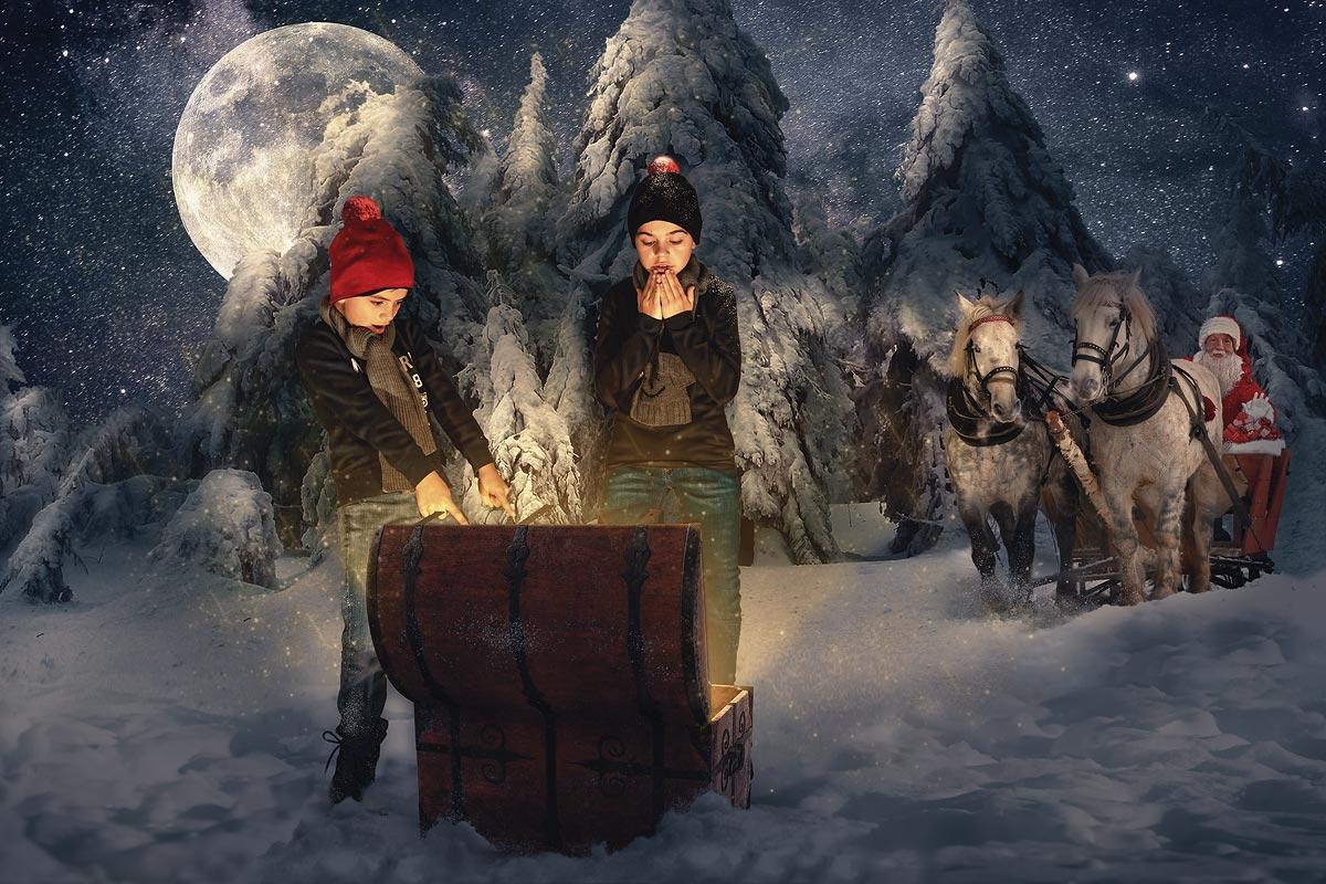 Entstehung Weihnachtsgruß